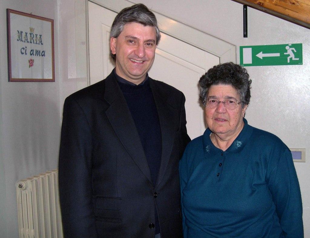 Saverio Gaeta con Natuzza Evolo a Paravati